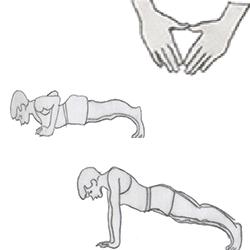 Body weight-Close-Grip Push Up